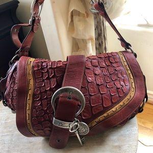 Very rare Christian Dior gaucho saddle bag.
